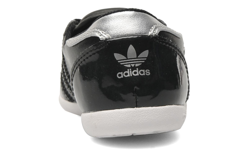 Ballerines Adidas Originals Forum Slipper K Noir vue droite