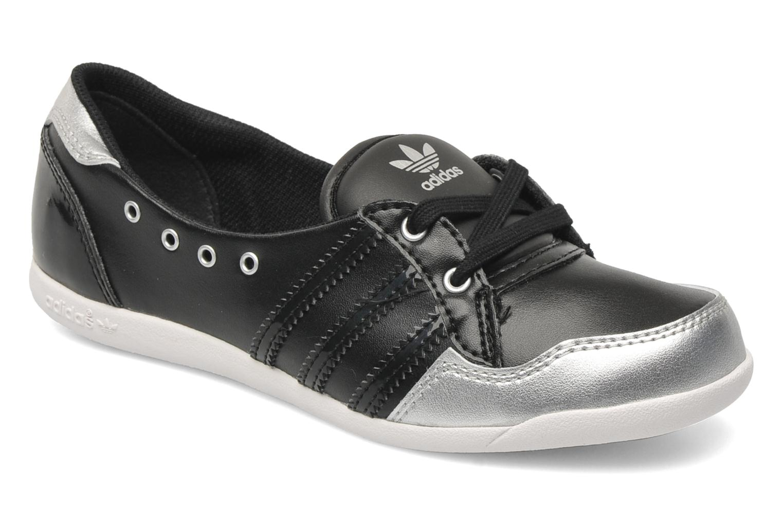 Ballerines Adidas Originals Forum Slipper K Noir vue détail/paire