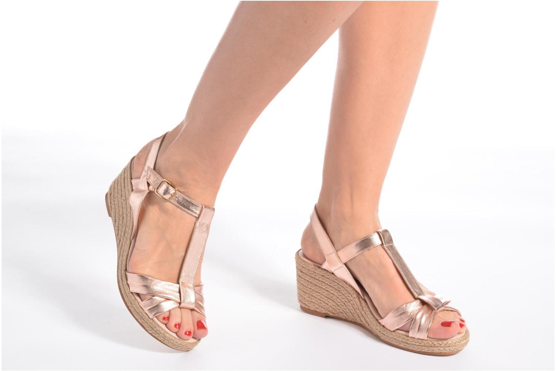 Sandales et nu-pieds Anna Volodia Jemeo Or et bronze vue bas / vue portée sac