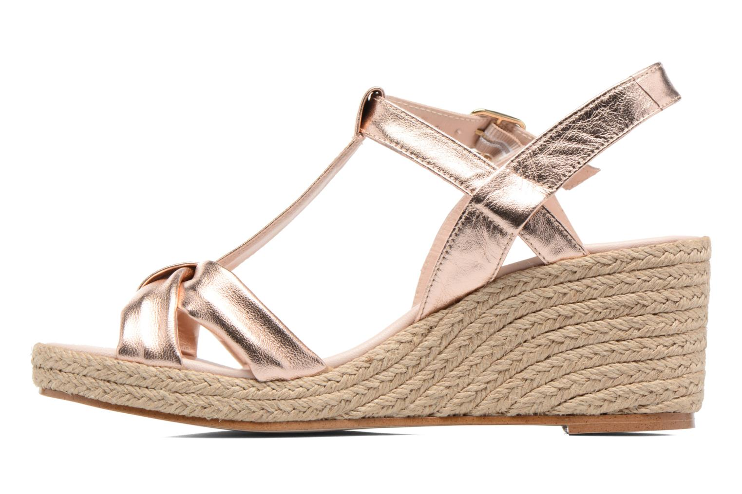 Sandals Anna Volodia Jemeo Bronze and Gold front view