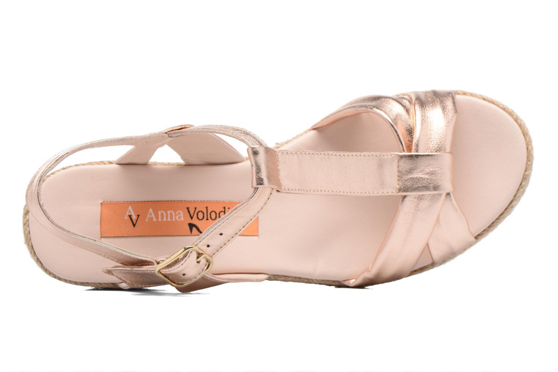 Sandales et nu-pieds Anna Volodia Jemeo Or et bronze vue gauche