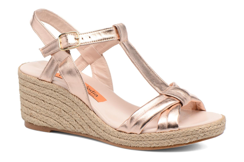 Sandales et nu-pieds Anna Volodia Jemeo Or et bronze vue détail/paire