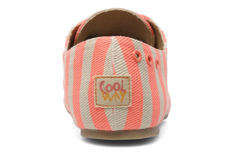 Chaussures à lacets Coolway Caribean Orange vue droite