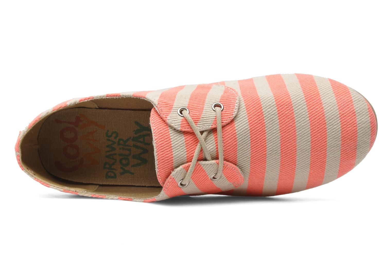 Chaussures à lacets Coolway Caribean Orange vue gauche