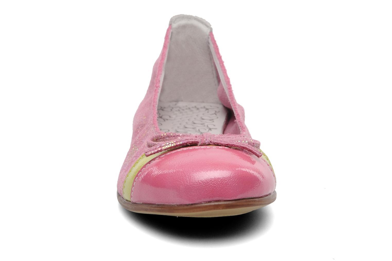 Ballerines Bopy SAPLANE Rose vue portées chaussures