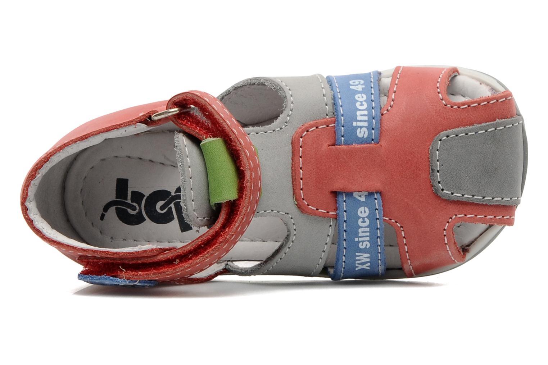 Sandales et nu-pieds Bopy ZADRIEN Rouge vue gauche