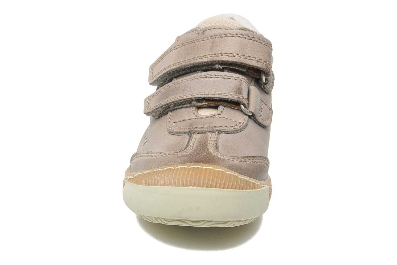 Baskets Bisgaard Dan Beige vue portées chaussures