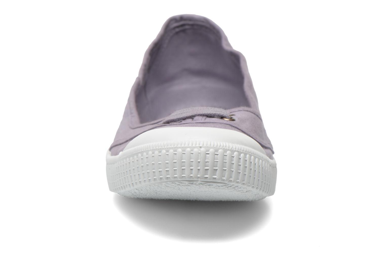Ballerines Victoria Bailarina Inglesa Lona Violet vue portées chaussures