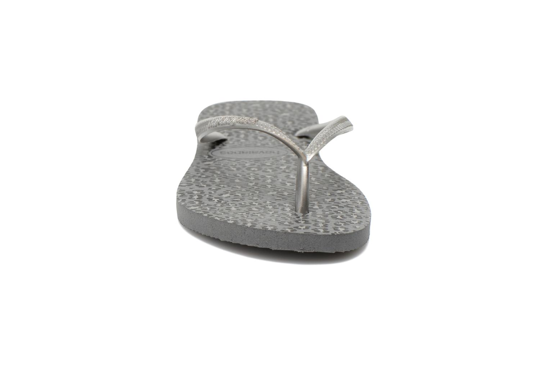 Flip flops Havaianas Slim Animals Silver model view