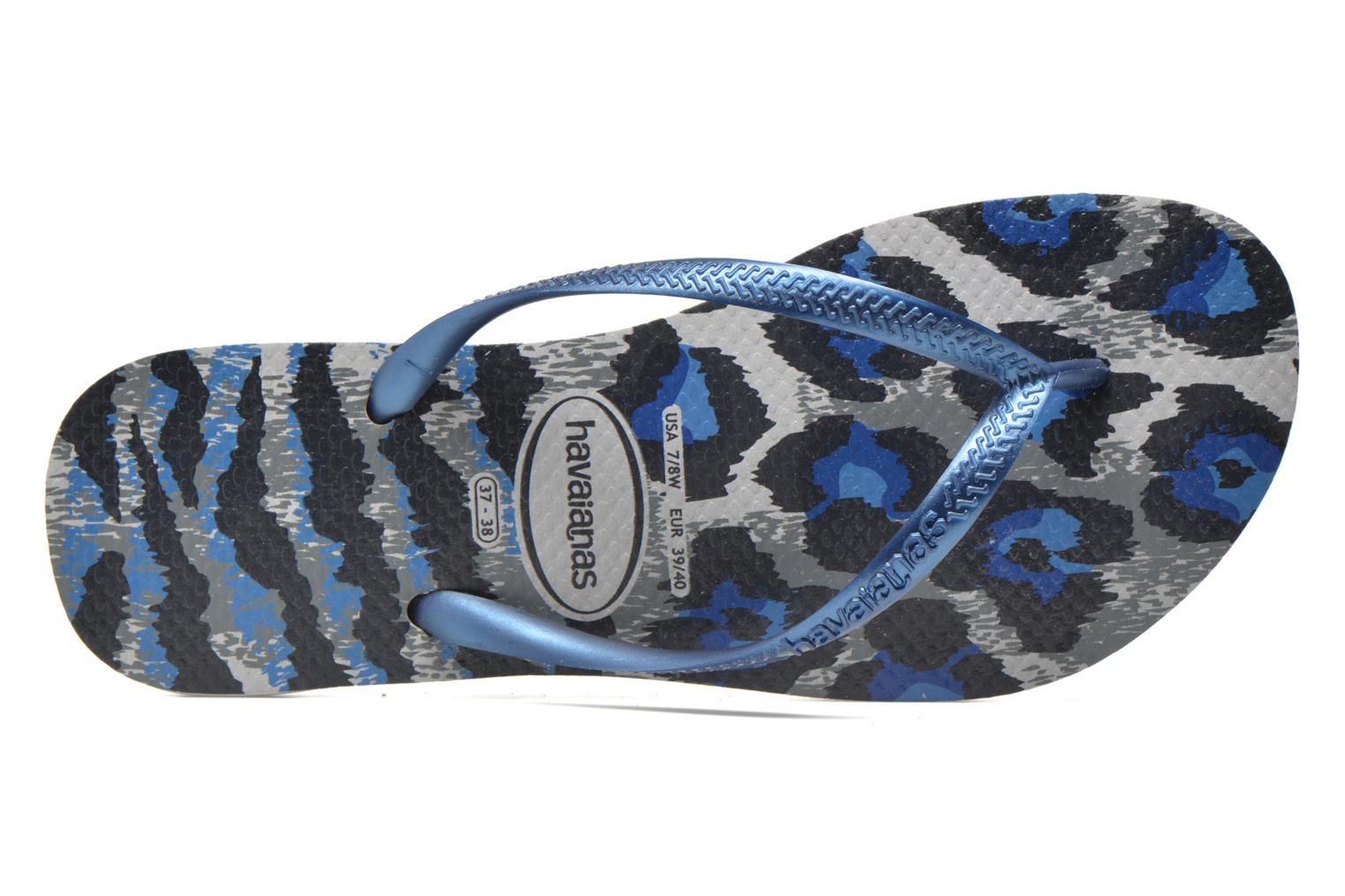 Flip flops Havaianas Slim Animals Multicolor view from the left