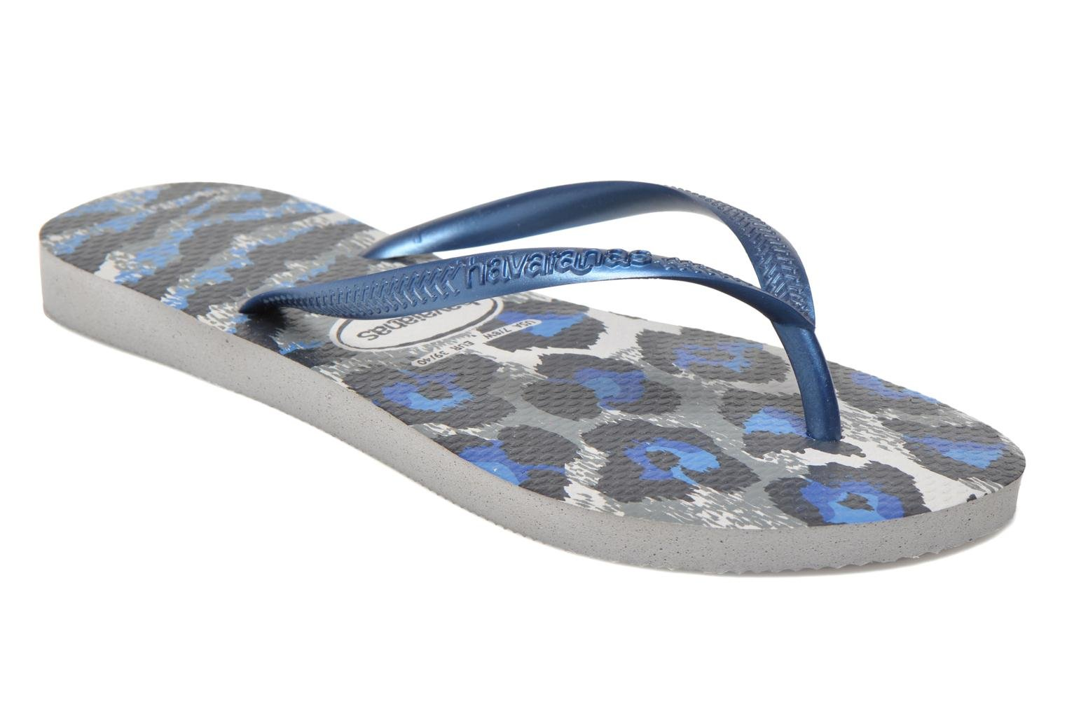 Tongs Havaianas Slim Animals Multicolore vue détail/paire