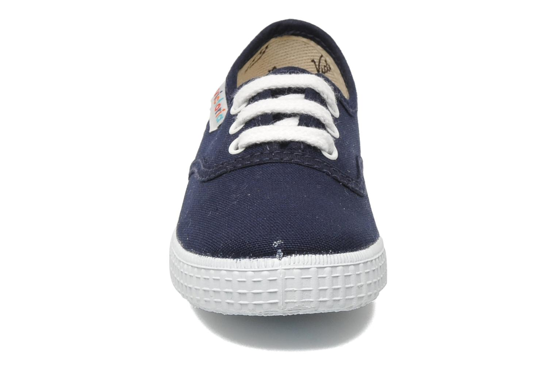 Baskets Victoria Inglesa Lona Bleu vue portées chaussures