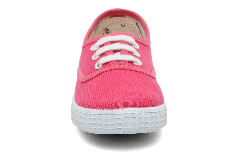 Baskets Victoria Inglesa Lona Rose vue portées chaussures