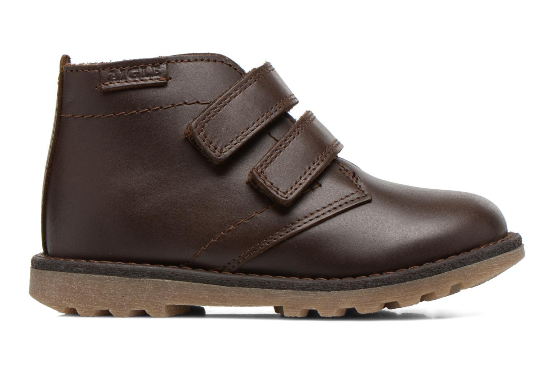 Schoenen met klitteband Aigle Dixon M Kid Fur Bruin achterkant