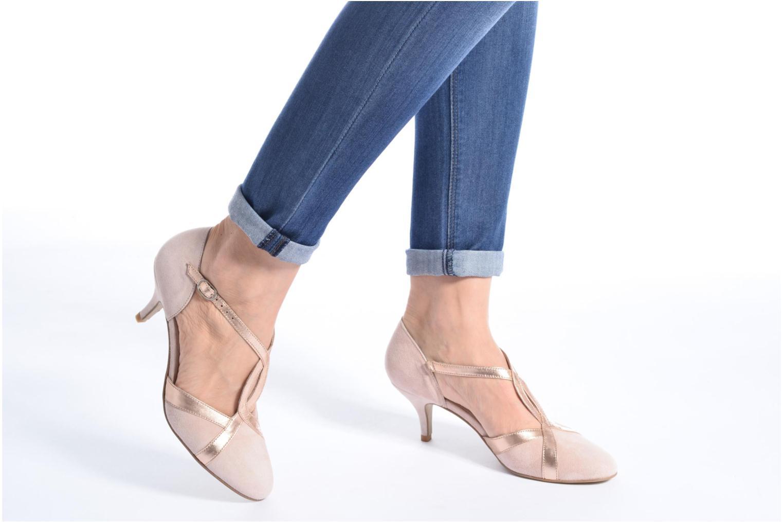 Zapatos de tacón Georgia Rose Titine Rosa vista de abajo