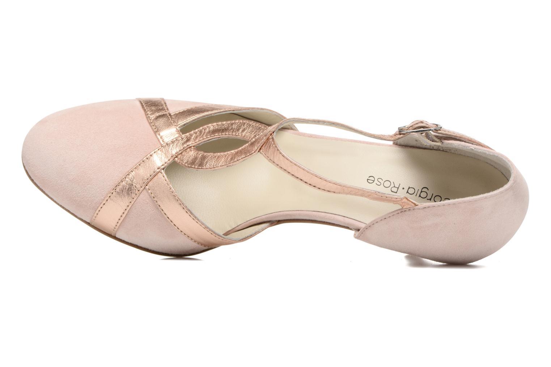 Zapatos de tacón Georgia Rose Titine Rosa vista lateral izquierda