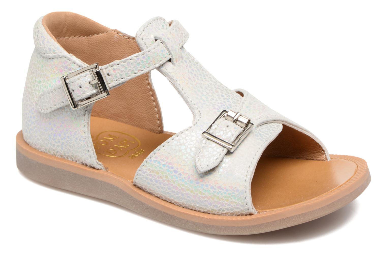 Sandali e scarpe aperte Pom d Api POPPY BUCKLE Argento vedi dettaglio/paio