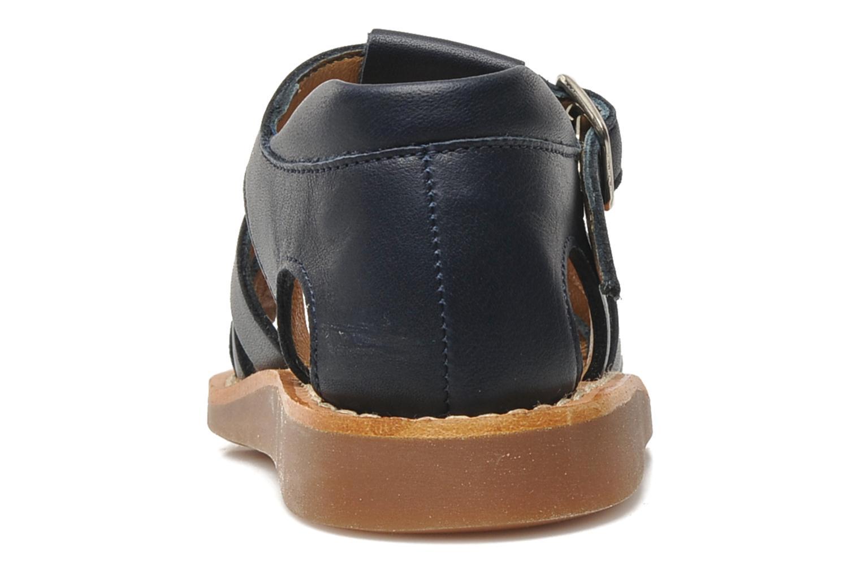 Sandales et nu-pieds Pom d Api Yapo Papy Buckle Bleu vue droite
