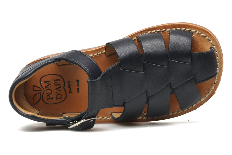 Sandales et nu-pieds Pom d Api Yapo Papy Buckle Bleu vue gauche