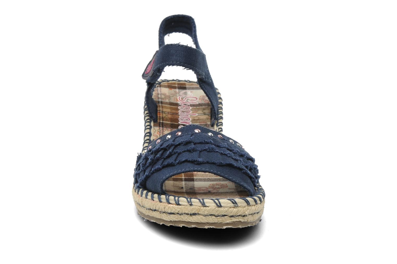 Sandales et nu-pieds Skechers TikisRuffle Ups Bleu vue portées chaussures