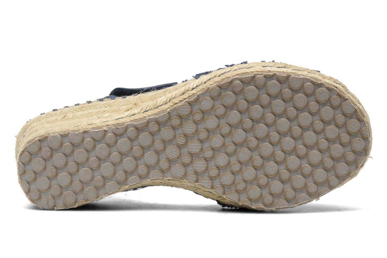 Sandales et nu-pieds Skechers TikisRuffle Ups Bleu vue haut