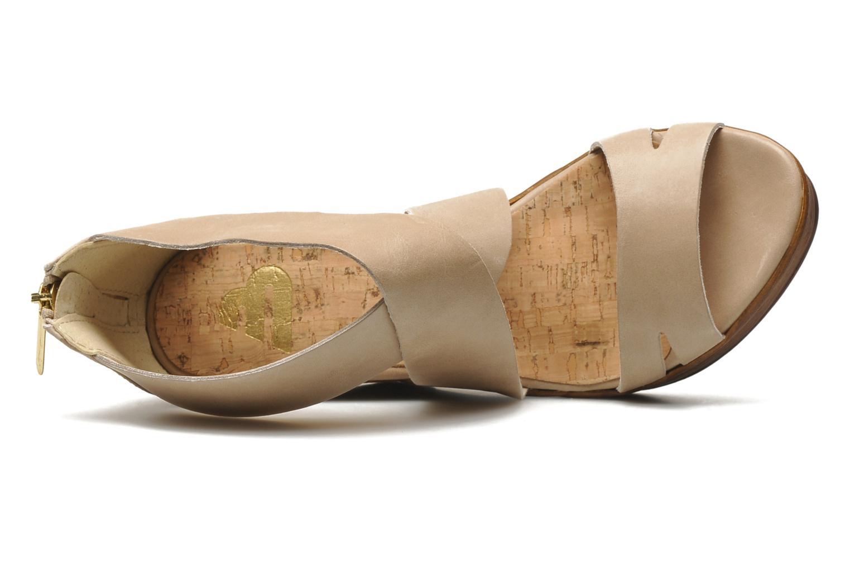Sandalen Bullboxer Koray beige ansicht von links