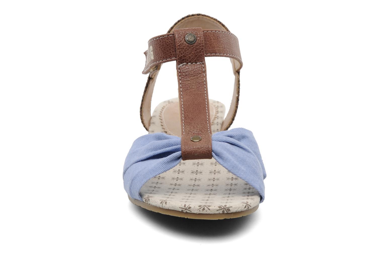 Sandales et nu-pieds Mustang shoes Beibei Bleu vue portées chaussures