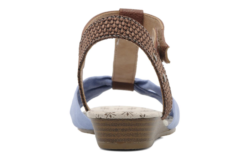 Sandalen Mustang shoes Beibei blau ansicht von rechts