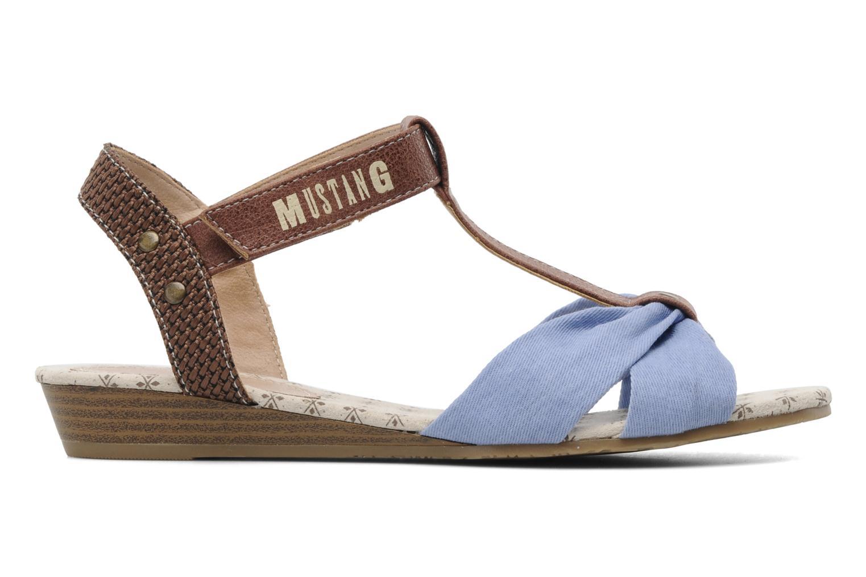Sandalen Mustang shoes Beibei blau ansicht von hinten