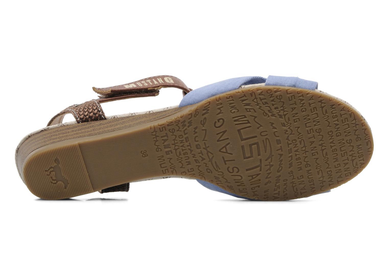 Sandales et nu-pieds Mustang shoes Beibei Bleu vue haut