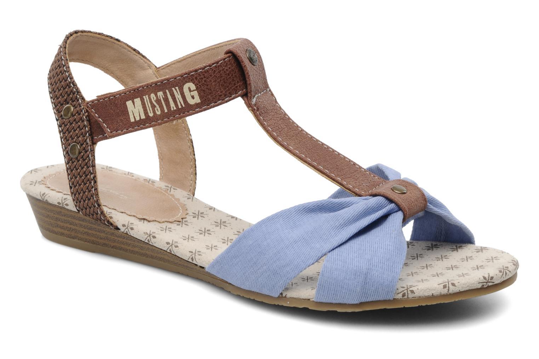 Sandales et nu-pieds Mustang shoes Beibei Bleu vue détail/paire