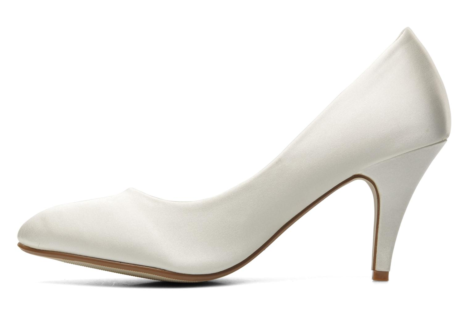 High heels I Love Shoes Kindy White front view