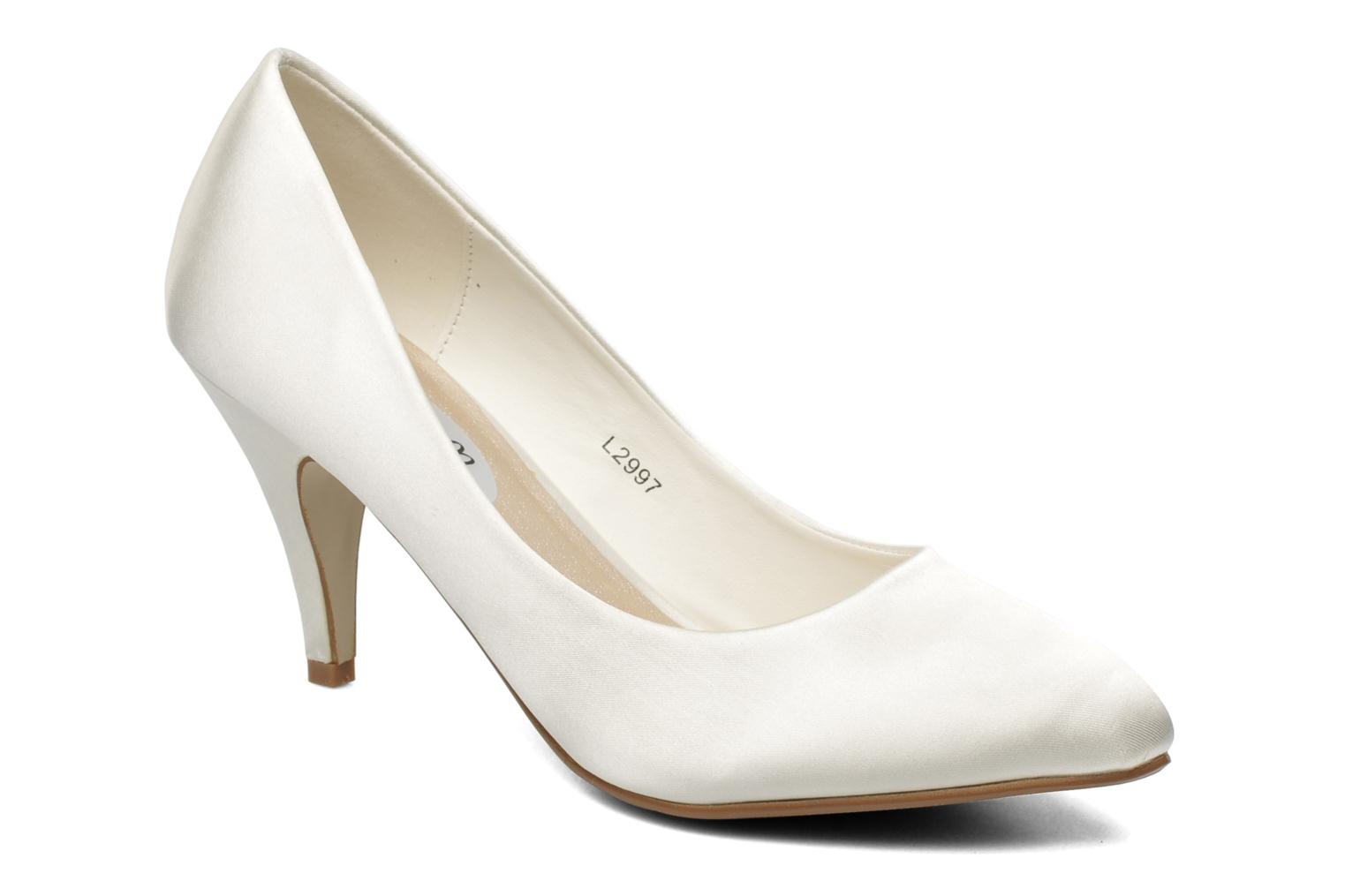 High heels I Love Shoes Kindy White detailed view/ Pair view