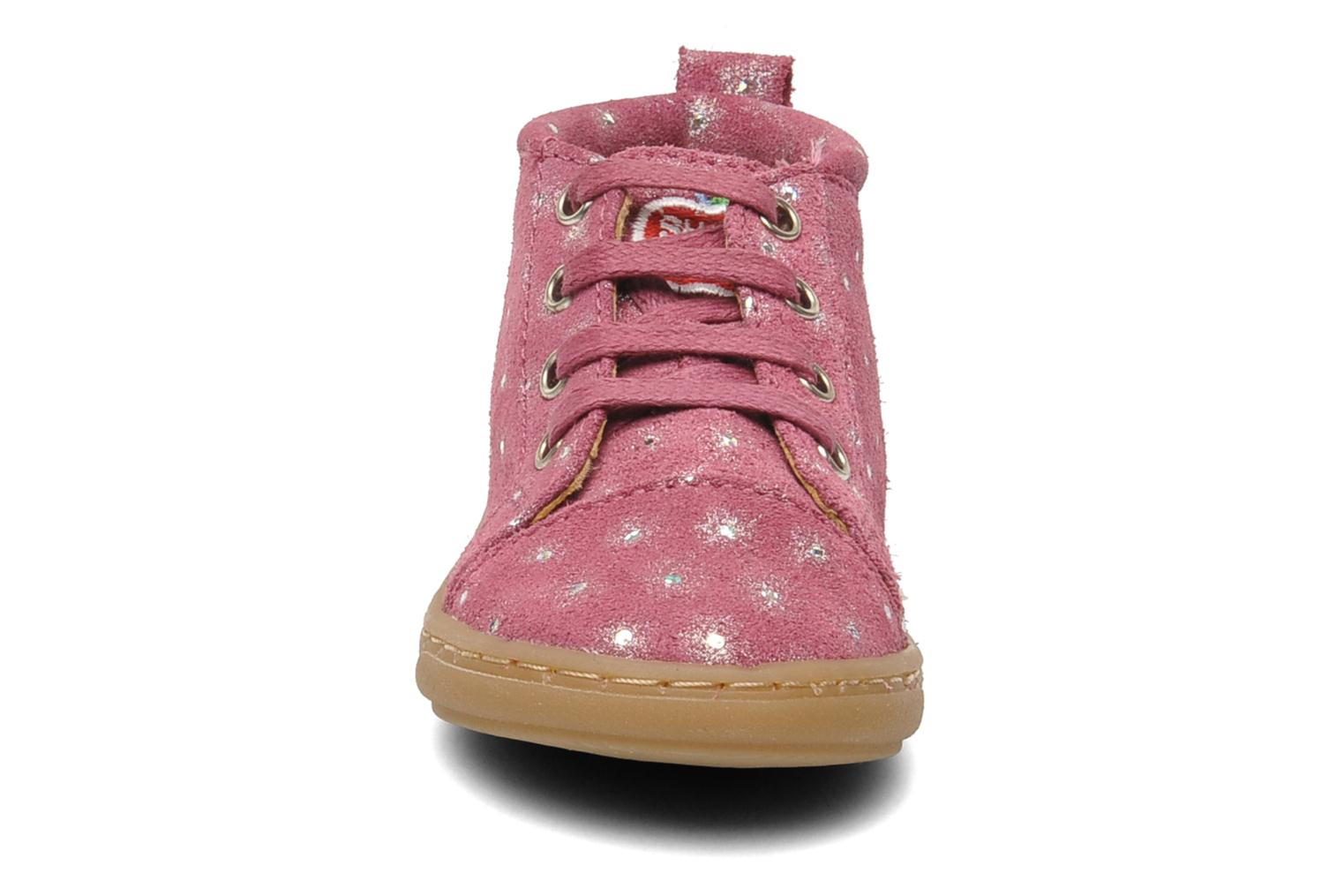 Ankle boots Shoo Pom Bouba Pad Lace Pink model view