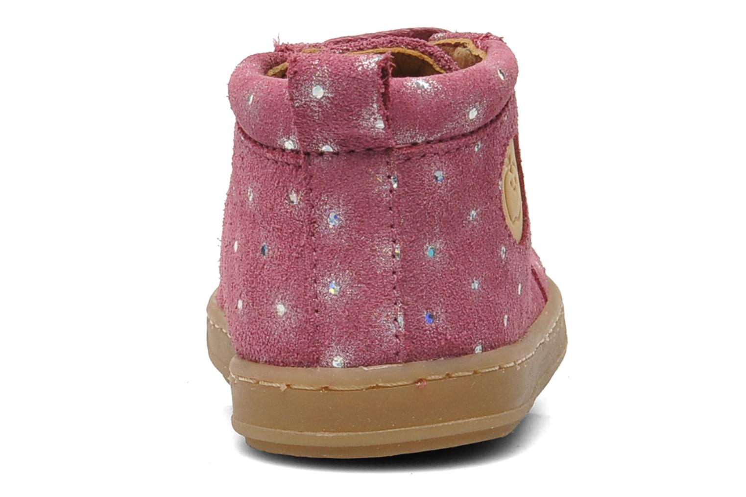 Ankle boots Shoo Pom Bouba Pad Lace Pink view from the right