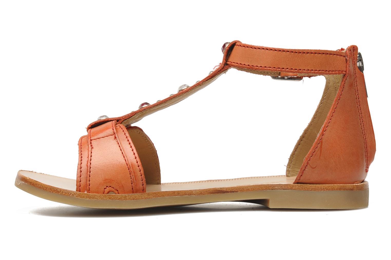 Sandales et nu-pieds Shwik LAZAR BELT Orange vue face