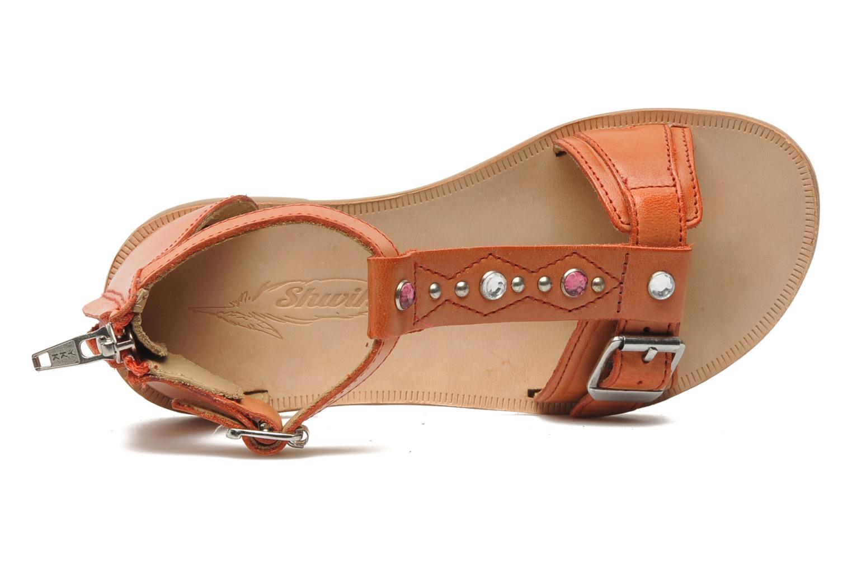 Sandales et nu-pieds Shwik LAZAR BELT Orange vue gauche