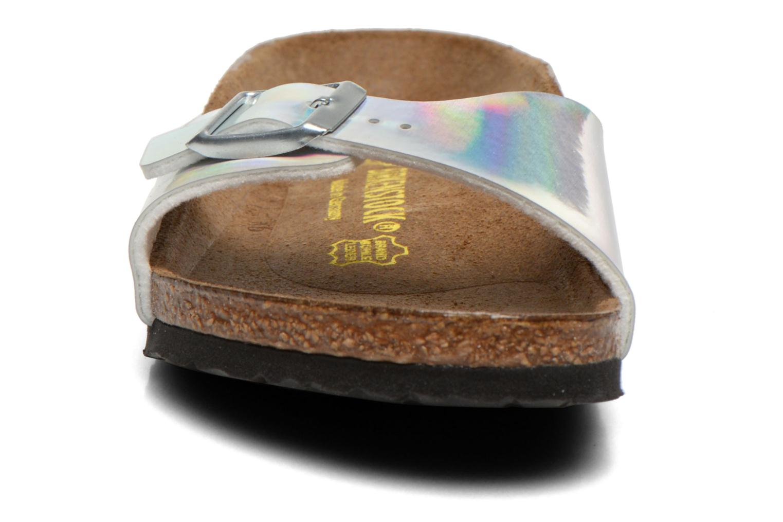Sandales et nu-pieds Birkenstock Madrid Birko Flor Argent vue portées chaussures