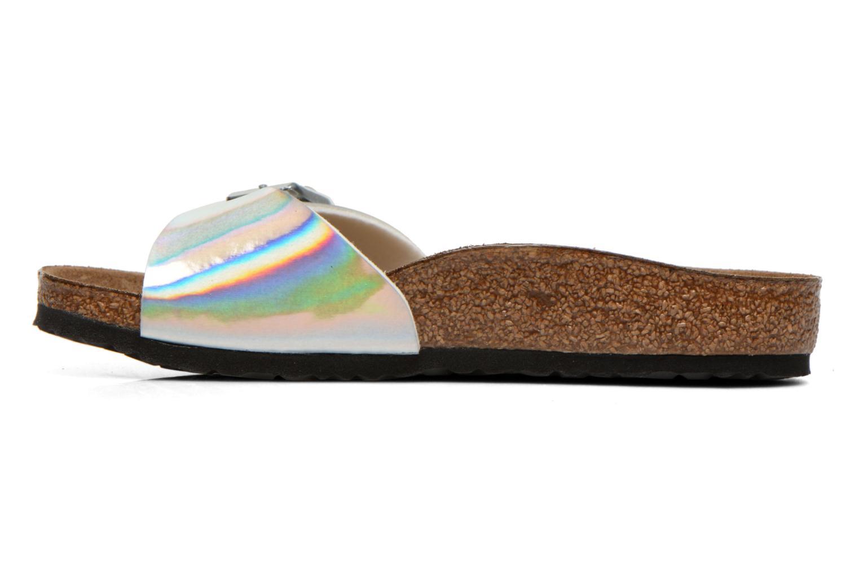 Sandales et nu-pieds Birkenstock Madrid Birko Flor Argent vue face