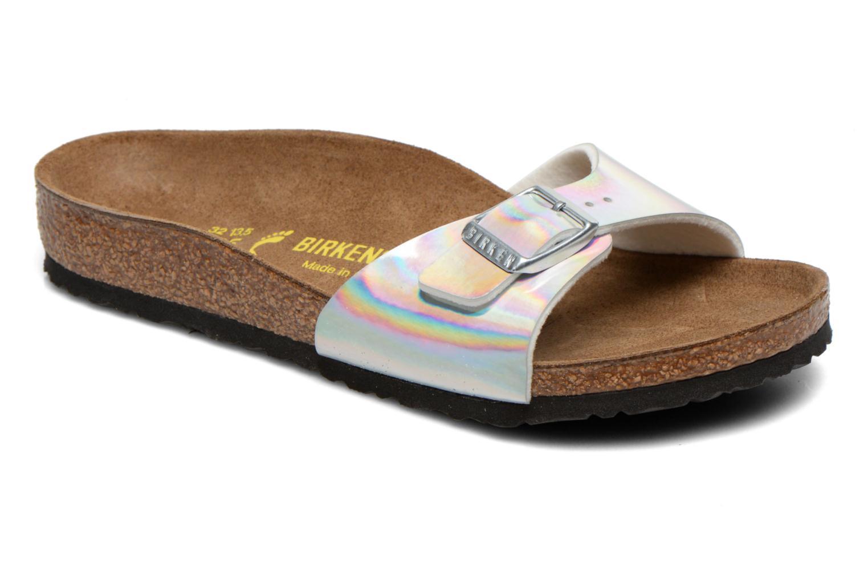 Sandales et nu-pieds Birkenstock Madrid Birko Flor Argent vue détail/paire