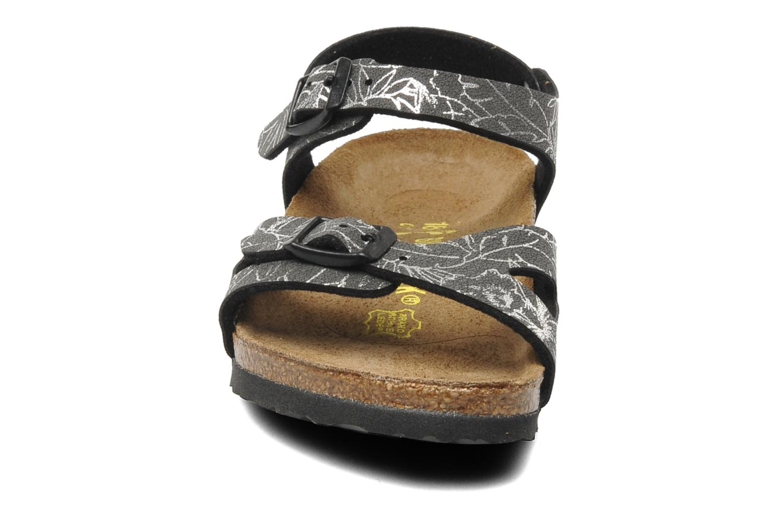 Sandals Birkenstock Rio Birko Flor Black model view