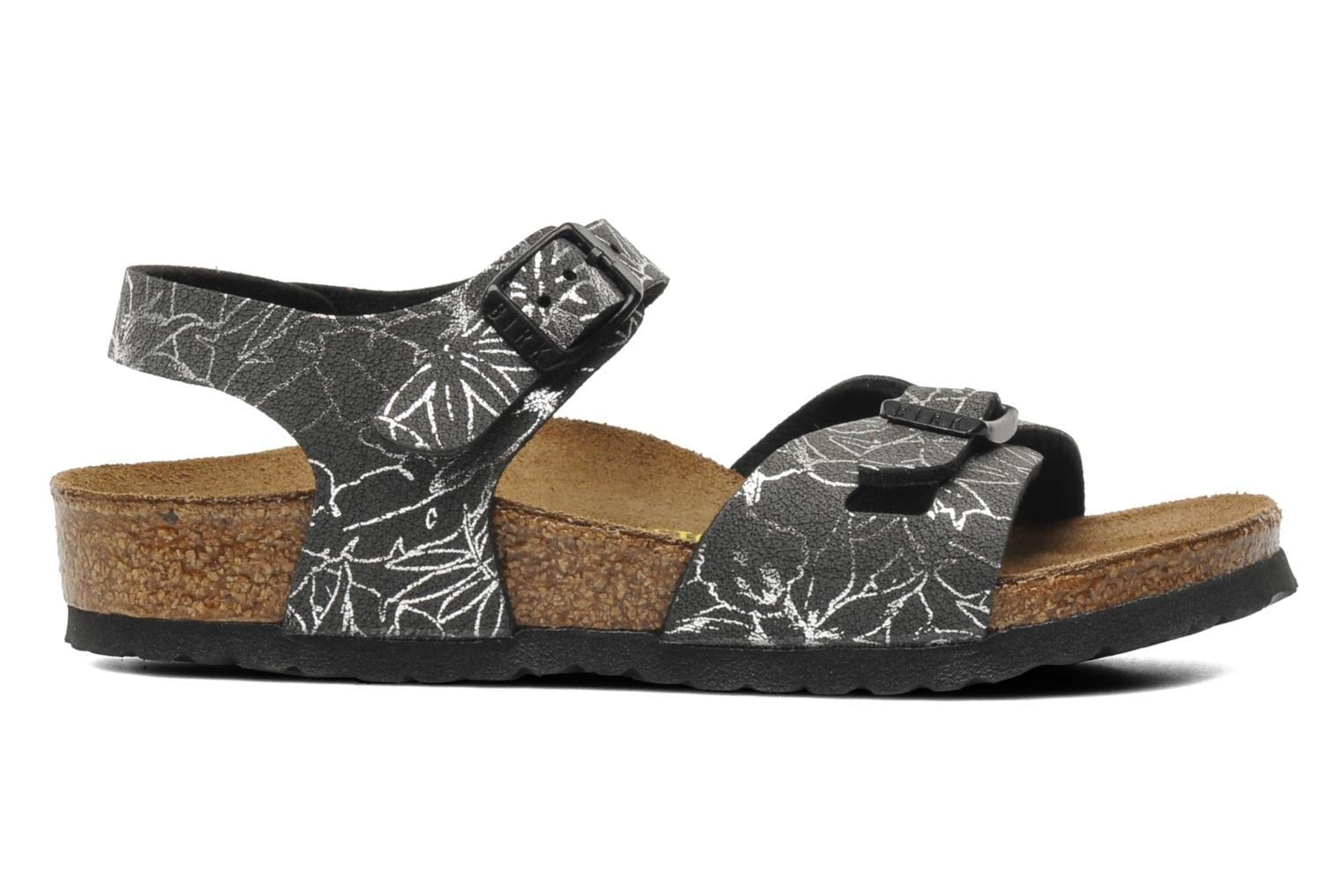 Sandals Birkenstock Rio Birko Flor Black back view