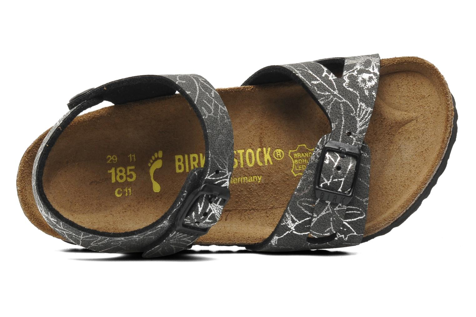 Sandals Birkenstock Rio Birko Flor Black view from the left