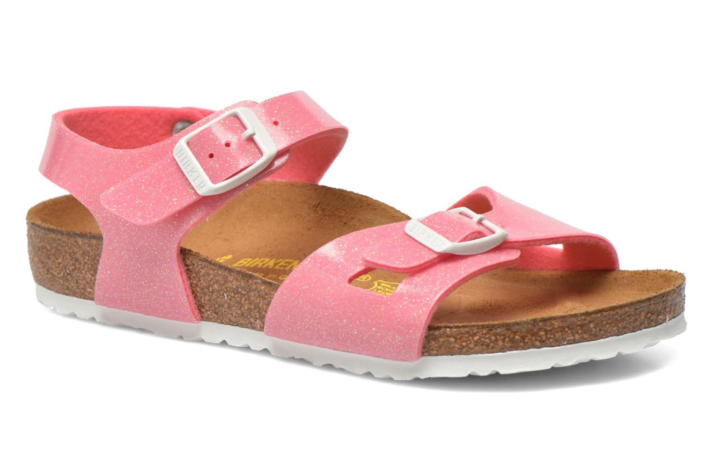 Sandaler Birkenstock Rio Birko Flor Pink detaljeret billede af skoene