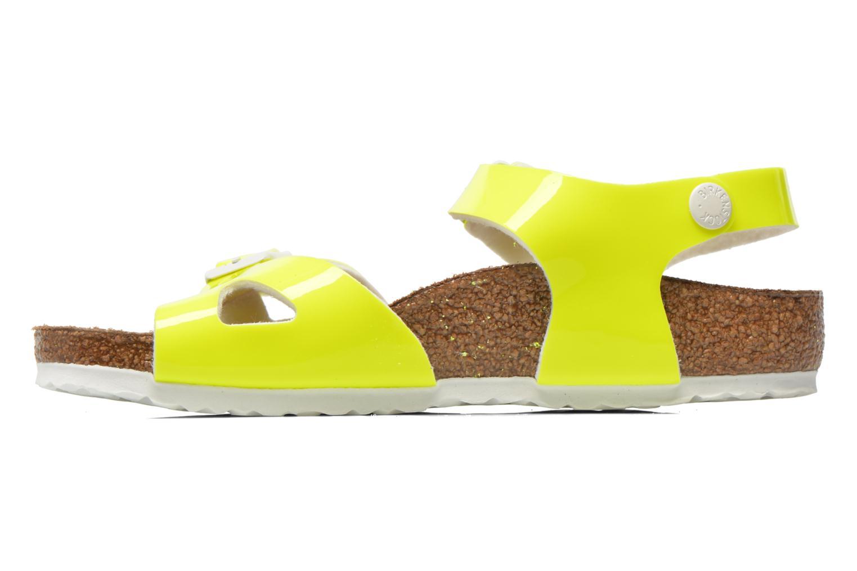 Sandales et nu-pieds Birkenstock Rio Birko Flor Jaune vue face