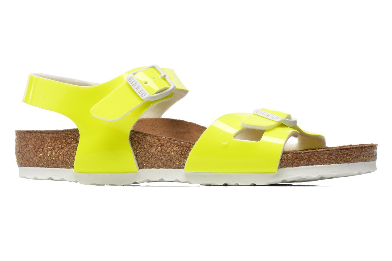 Sandales et nu-pieds Birkenstock Rio Birko Flor Jaune vue derrière