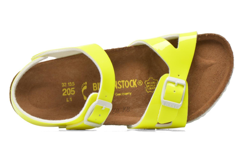 Sandales et nu-pieds Birkenstock Rio Birko Flor Jaune vue gauche