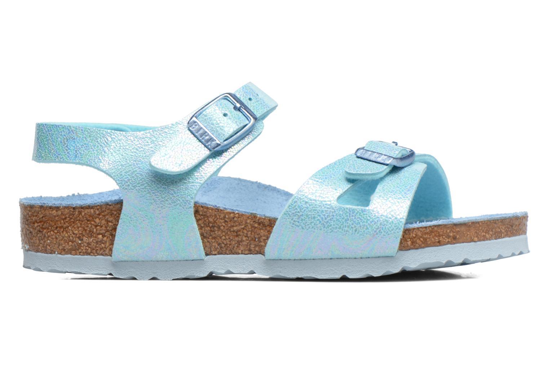 Sandals Birkenstock Rio Birko Flor Blue back view