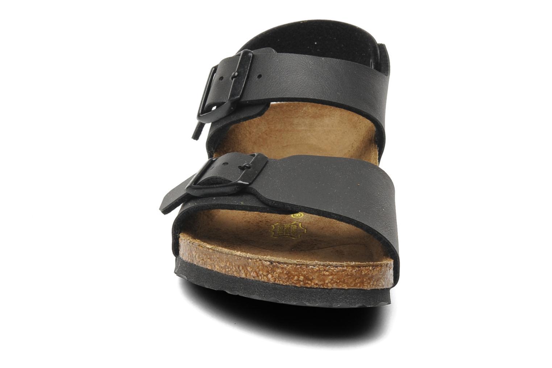 Sandalen Birkenstock New York Birko Flor schwarz schuhe getragen