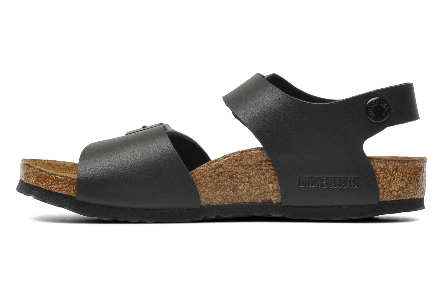 Sandals Birkenstock New York Birko Flor Black front view